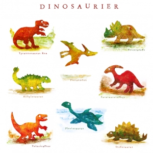 Dinosaurier Plakat